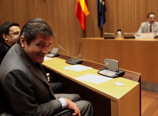 El presidente de la Gestora del PSOE, Javier Fernández, en un acto celebrado recientemente en el Congreso.