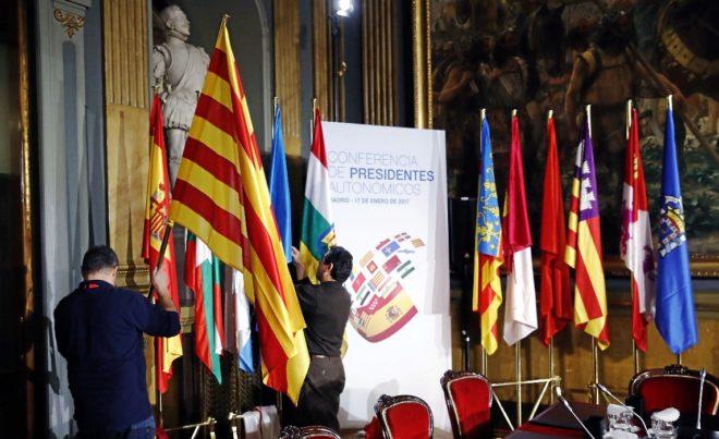 Preparativos para la VI Conferencia de Presidentes en el Senado.