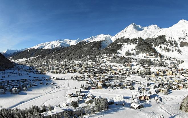 Panorámica de Davos, la ciudad suiza donde se reúne el Foro Económico Mundial.