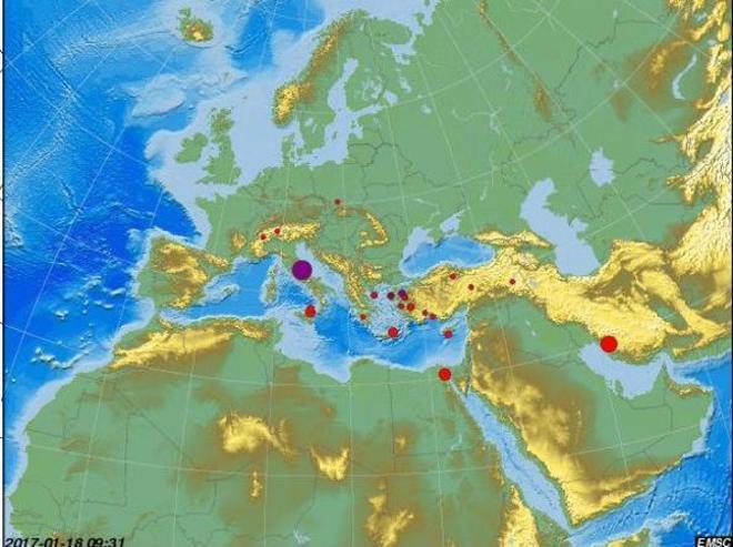 Tres terremotos sacuden el centro de Italia en menos de una hora