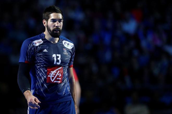 Nikola Karabatic, en el partido que enfrentó a Rusia y a Francia.
