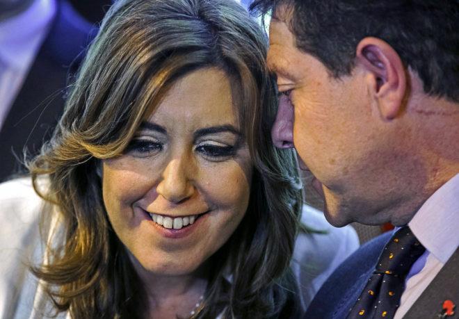 La presidenta de la Junta de Andalucía Susana Díaz y el de Castilla La Mancha Emiliano García-Page coincididieron este miércoles en Fitur.