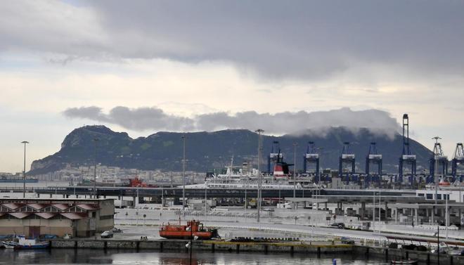 Reciente imagen del peñón de Gibraltar.