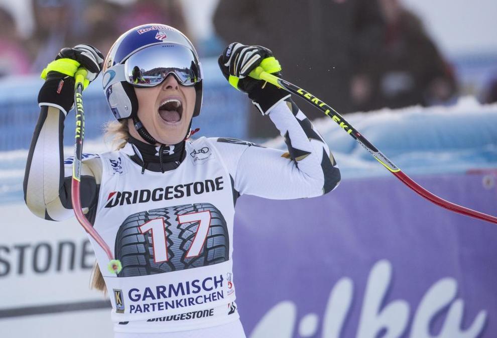 Lindsey Vonn, cuádruple vencedora de la Copa del Mundo de esquí...