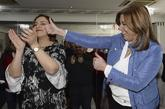 Susana Díaz, junto a la secretaria provincial del PSOE en Palencia,...