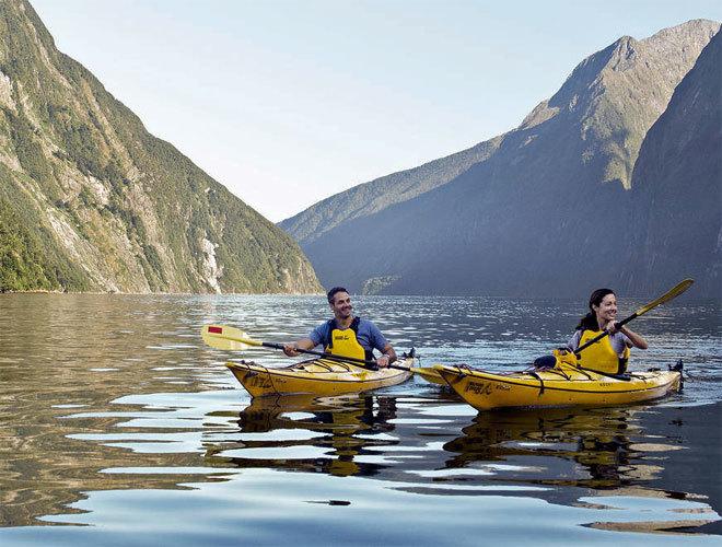 Millford Sound, dentro del Parque Nacional de Fiordland.