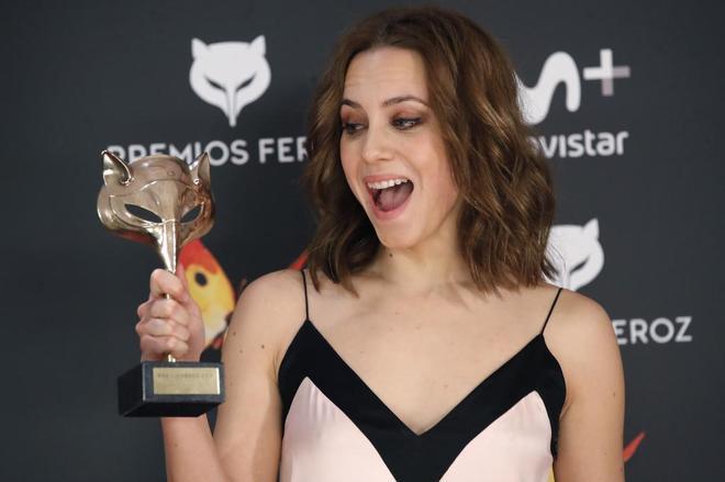 Aura Garrido, con su premio a la mejor actriz protagonista por 'El...