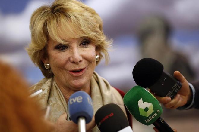 La portavoz del PP en Madrid y ex presidenta del partido en la...