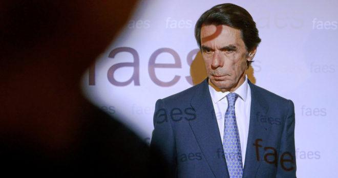 José María Aznar, durante un acto de Faes celebrado en Madrid el...
