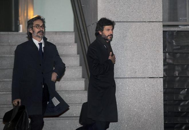 Oleguer Pujol a su salida de la Audiencia Nacional el pasado 12 de enero.