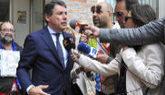 El ex presidente madrileño Ignacio González, a su salida de los...