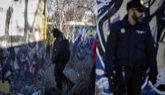 Agentes de la Policía Nacional en la zona donde fueron detenidos los...
