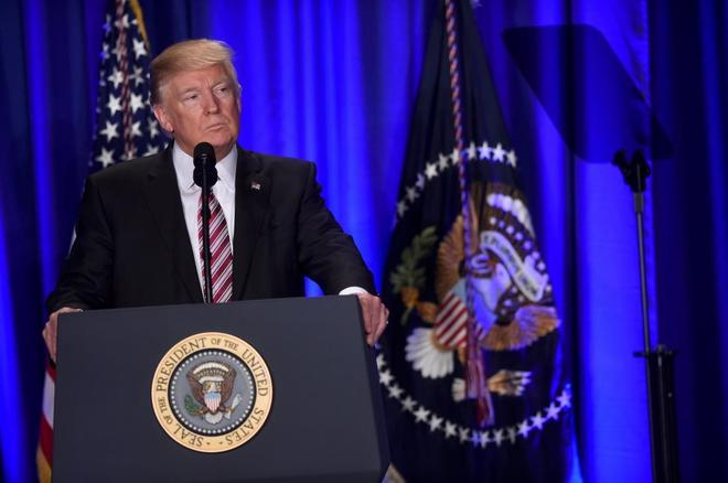 Donald Trump durante la Conferencia Republicana en Philadelphia el 26 de enero.