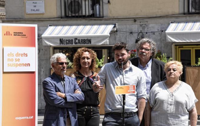 Acto de ERC con la participación del ex juez Santiago Vidal, Ester...