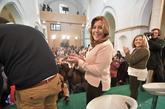 Susana Díaz, en el acto celebrado esta mañana en Alcalá de los...