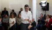 El pre candidato a dirigir el PSOE Patxi López en Fuenlabrada...