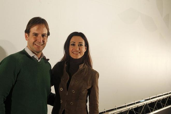 Cristiano Brown y Carmen Lamana, en el III Congreso Nacional de UPyD.