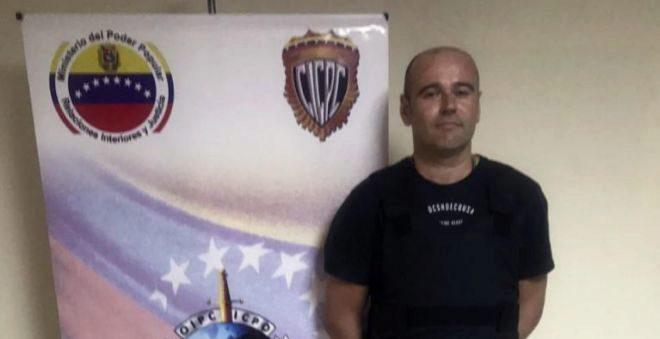 Rafael Rubén Núñez, tras su detención en Venezuela.