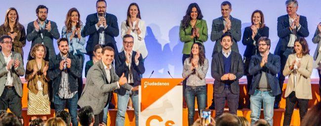 Albert Rivera presenta la nueva imagen de Ciudadanos en el acto en el...