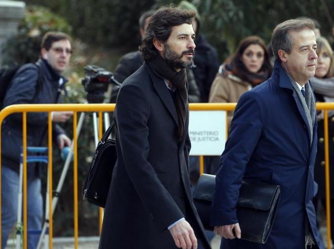 Oleguer Pujol, antes de declarar en la Audiencia Nacional el pasado 12 de enero.