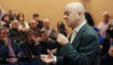El diputado socialista Odón Elozrza, en un coloquio en Calatayud...