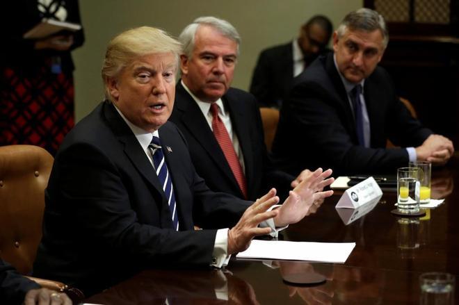 El presidente de Estados Unidos, Donald Trump, durante la reunión con representantes de la industria farmacéutica en la Casa Blanca.