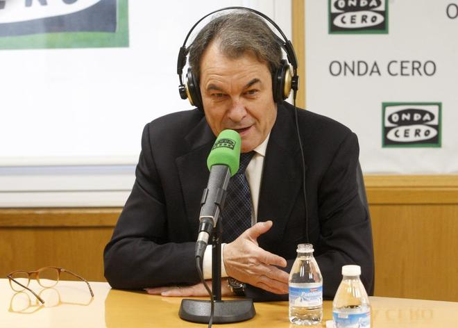 El ex president de la Generalitat Artur Mas durante una entrevista...