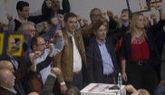 Pedro Sánchez, puño en alto en un momento del acto celebrado en...