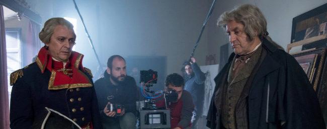 Pedro Casablanc, como Goya (dcha.) y Luis Callejo, en el papel de...