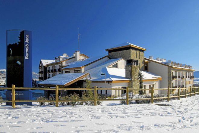 Fachada de uno de los hoteles Barceló en el Pirineo