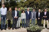 Soraya Sáenz de Santamaría, el sábado, con dirigentes del PP en...