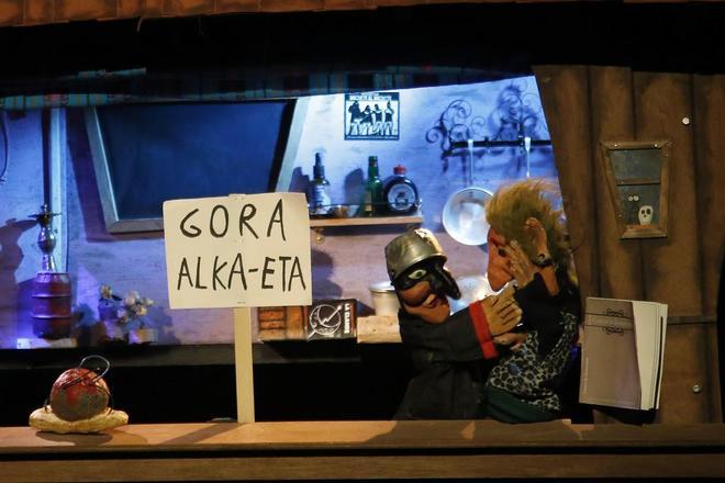 Un momento de la obra representada este domingo en el Teatro del barrio.