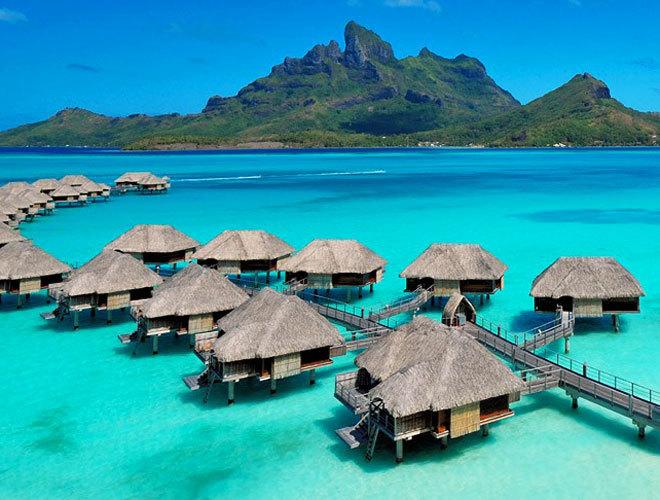 Las paradisiacos paisajes de Bora Bora, en la Polinesia francesa.