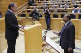 El senador de ERC Robert Masih Nahar, en el acto de acatamiento de la...