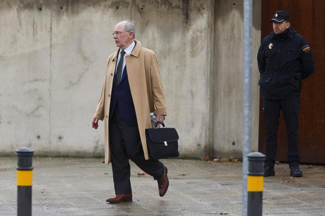 Rodrigo Rato a la salida del juicio por la <em>tarjetas black</em> en...