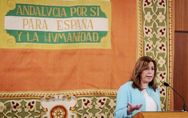 Susana Díaz, el pasado enero en un acto institucional como presidenta...
