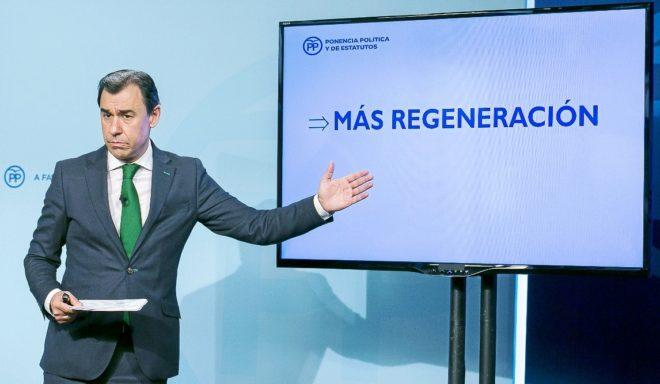 El vicesecretario del PP Fernando Martínez-Maíllo, en la...