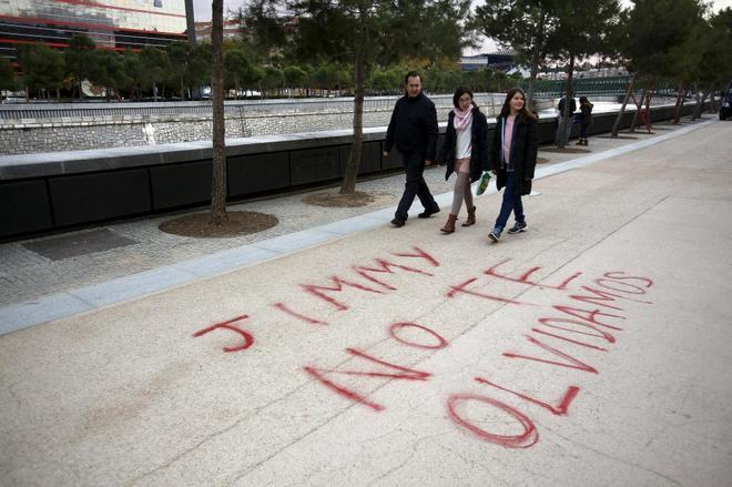 Pintada en recuerdo de 'Jimmy', en los aledaños del Estado Vicente...