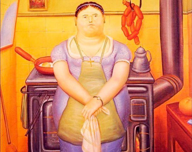 'La criada', obra del artista colombiano Fernando Botero.