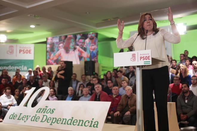 Susana Díaz en un reciente acto en Jaén.