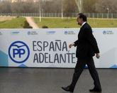Mariano Rajoy, a su llegada a la Caja Mágica de Madrid, donde el PP...