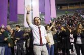 Pablo Iglesias, esta mañana, tras conocerse los resultados.