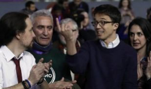 Pablo Iglesias y Diego Cañamero, con Íñigo Errejón y Rita Maestre...