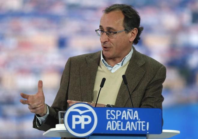 Alfonso Alonso, en el pasado Congreso del PP