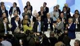 Ovación a Mariano Rajoy en el Congreso del PP celebrado en la Caja...