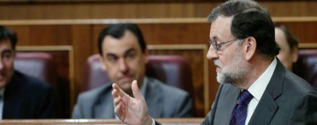 Mariano Rajoy, hoy, durante la sesión de control al Gobierno.
