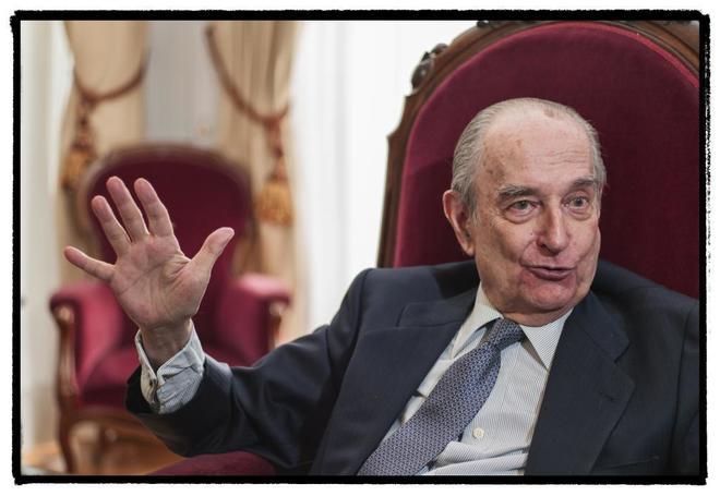 Landelino Lavilla, ex presidente de la Mesa del Congreso de los...