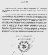 Documento aportado por la Fiscalía al juez en relación al presidente...