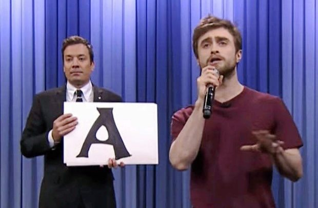 El actor Daniel Radcliffe (Harry Potter) rapea 'Alphabet...