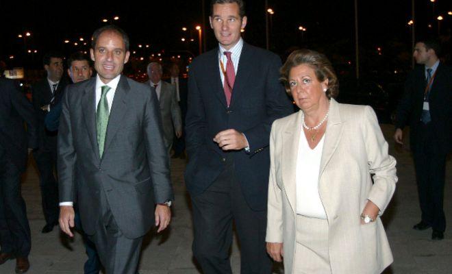 Camps, Rita Barberá y Urdangarin en 2004.